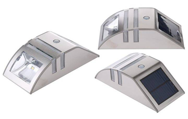 stainless steel solar wall light PIR
